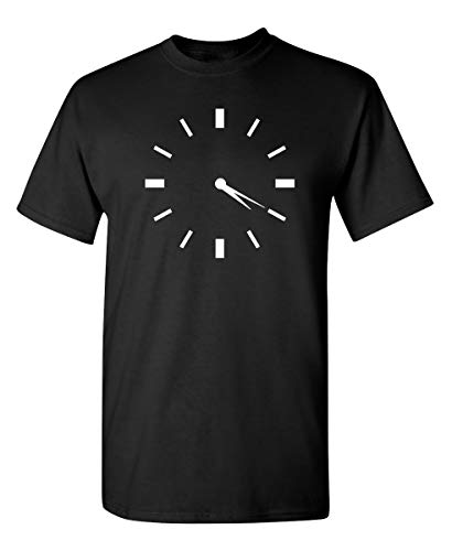 420 Clock Graphic Novelty Sarcastic Funny T Shirt XL Black
