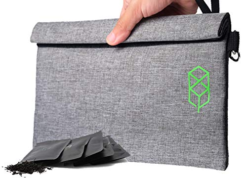 Smell Proof Bag - 11' x 6' Smellproof Odorless Stash Storage Pouch & Case - Eliminate...