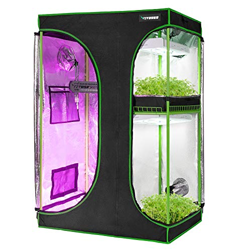 "VIVOSUN 2-in-1 36""x24""x53"" Mylar Reflective Grow Tent for Indoor Hydroponic Growing..."