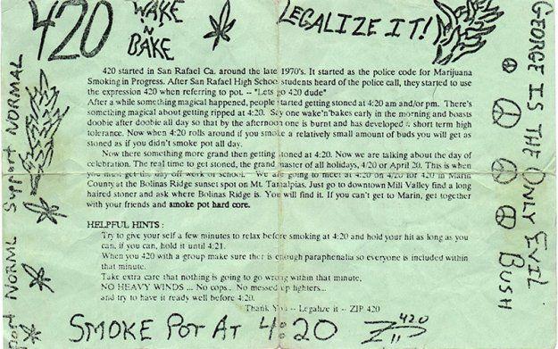 Folleto original del 420